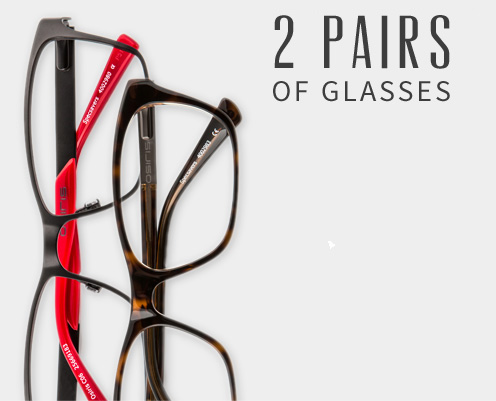 Two for one glasses from Specsavers Optometrists